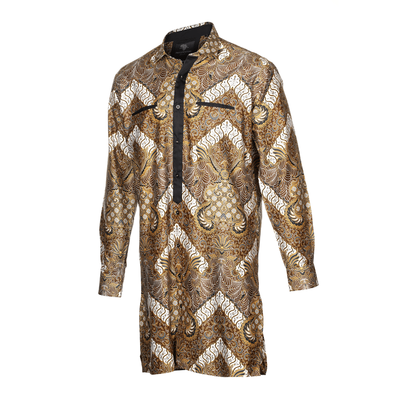 P803 L TUP Gold Waves Mens Tunic- Front