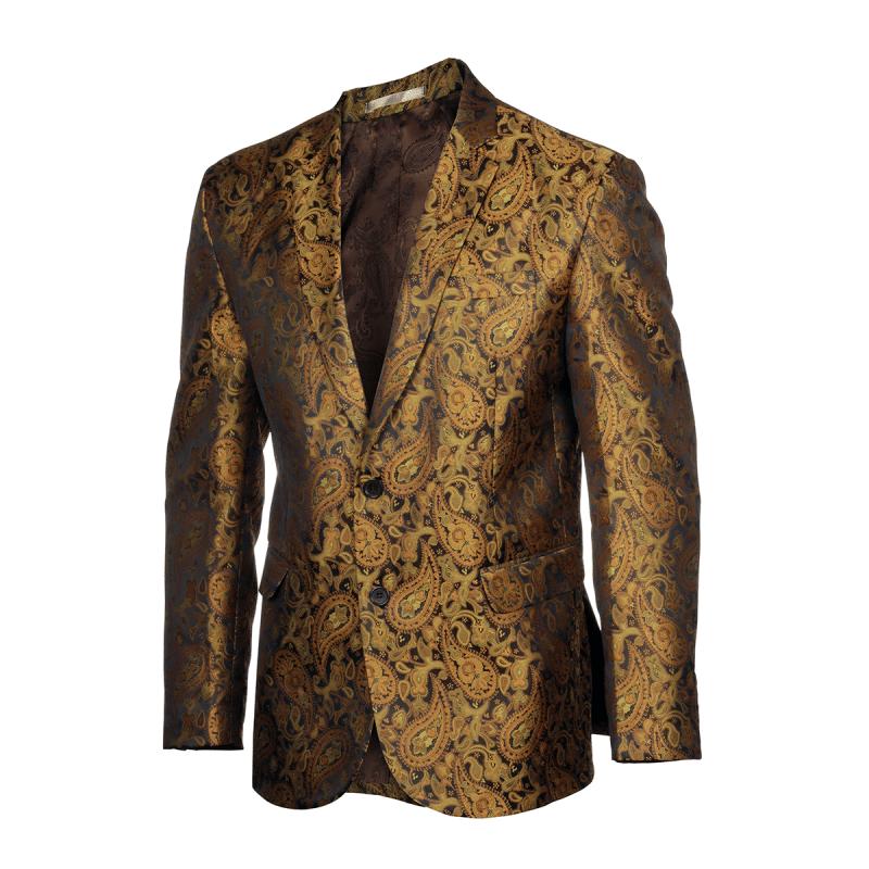 P901 BBLZM Golden Paisley Blazer – Front