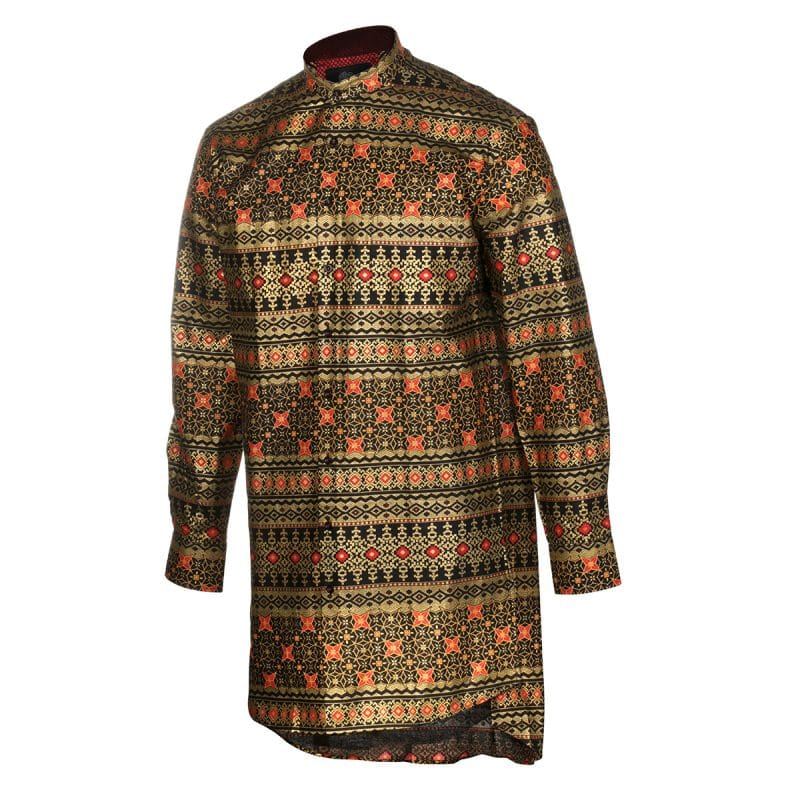 P905 L TUP Golden Red Star Tunic- Front